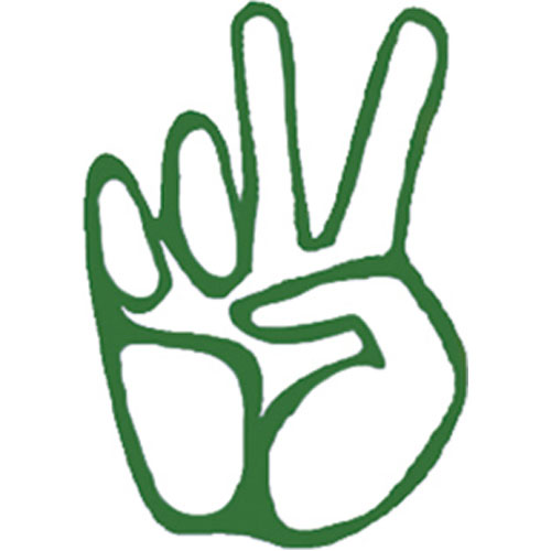 Sl103 Hand Peace Sign Vinyl Rub On Stickerbiz